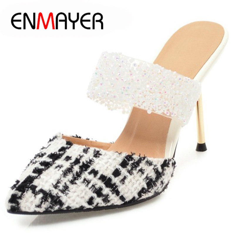 ENMAYER 2018 New Summer Sandals Ankle Wrap Ship On Shallow Shoes Weeding Party Dating Sandals Shoes Woman Thin Heels For LadiesENMAYER 2018 New Summer Sandals Ankle Wrap Ship On Shallow Shoes Weeding Party Dating Sandals Shoes Woman Thin Heels For Ladies