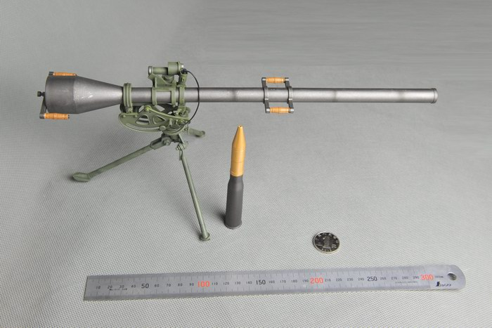 1/6 échelle soldat arme modèle 75mm calibre M20 pistolet ne peut pas l'utiliser modèle pour 12 ''soldat figurine d'action