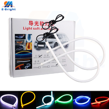 1SET 12V 30cm 45cm 60cm 85cm 3020 10LM/PCS Daytime running light Car Lights White Red Green Yellow Blue Iceblue monochrome
