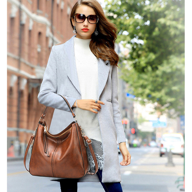 2018 vintage brown women leather handbags luxury designer shoulder bags high quality brand crossbody bags for women bolso mujer 4