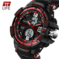 TTLIFE Fashion Mens Watches LED Waterproof Sports Military Watches Shock Resistant Quartz Digital Luxury Branded Wrist Watches