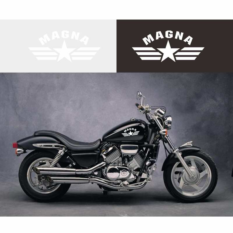 Aprilia motorcycle sticker pair tank panel vinyl cutout