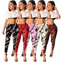 Heißer verkauf digitaldruck lange hosen frauen legging body frauen ganzkörperansicht sexy jumpsuit hip hop LS6006