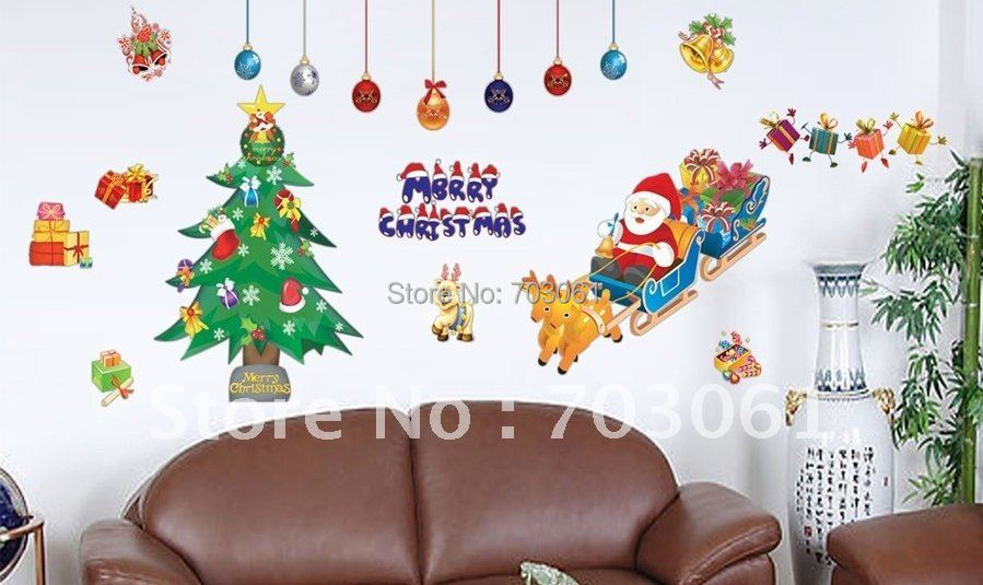 Removable Christmas room house Wall Stickers - Curitis Automation Industry Co.,Ltd store