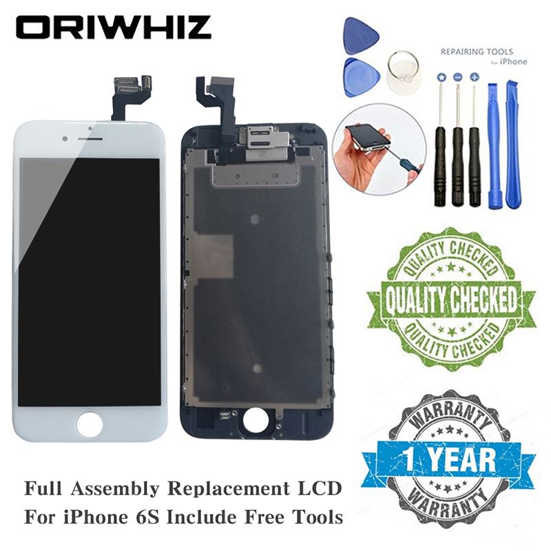 ORIWHIZ 3D Touch Screen Replacement For iphone 6s LCD Display With Digitizer Assembly Frame Proximity Sensor Earpiece Front Cam