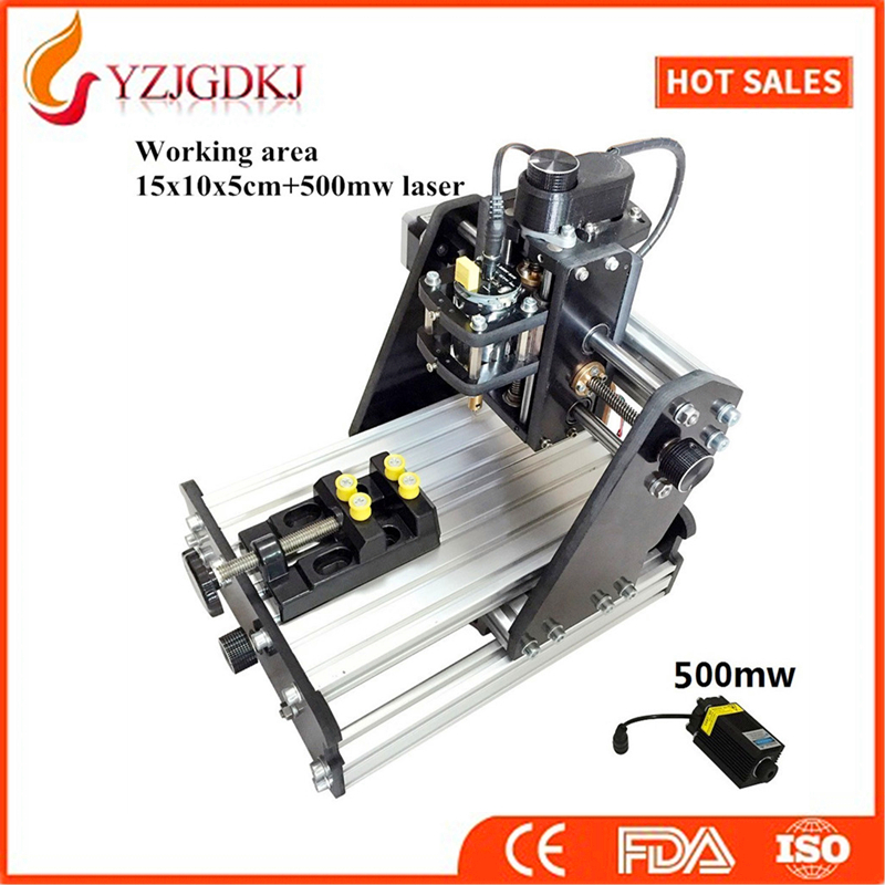 CNC 1510+500mw laser GRBL control Diy high power laser engraving CNC machine,3 Axis pcb Milling machine,Wood Router+500mw laser cnc 5axis a aixs rotary axis t chuck type for cnc router cnc milling machine best quality