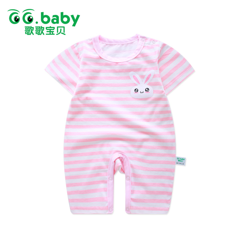 Striped Rabbit Baby Rompers Baby Boy Girl Romper Overalls Baby Clothing Infantil Newborn Boys Girls Clothes Jumpsuit For Babies summer newborn baby rompers ruffle baby girl clothes princess baby girls romper with headband costume overalls baby clothes
