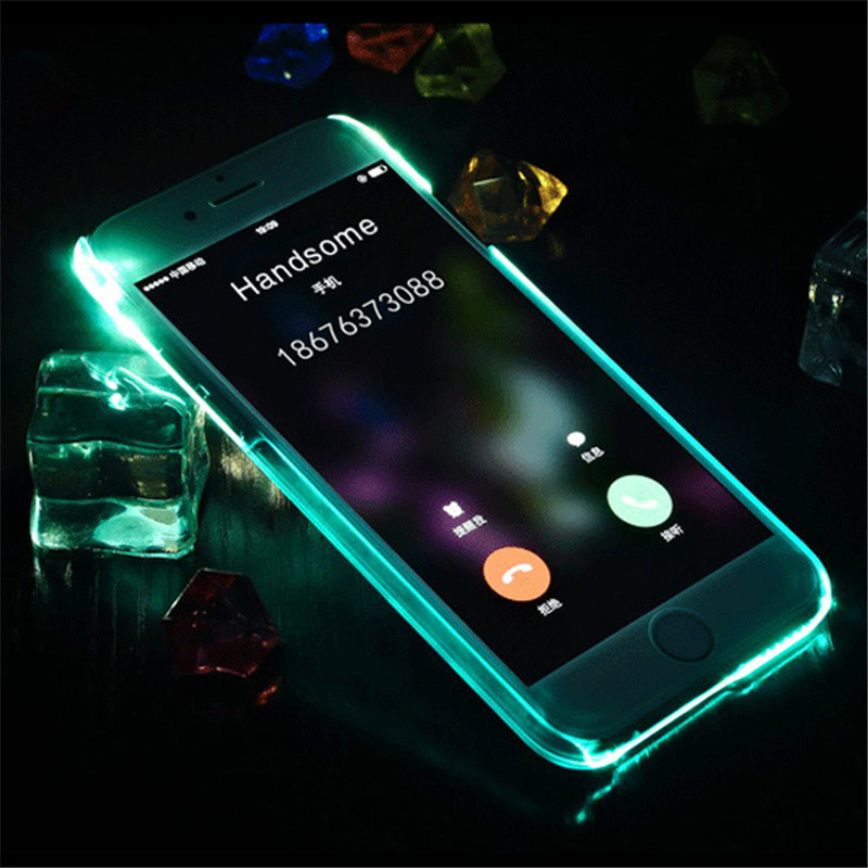 sports shoes 0210d 94f2c US $9.16 |For iPhone 6s LED Flash Light case silicone cover luxury original  Remind Incoming Call Slim shell for iPhone 6s plus LED Case on ...