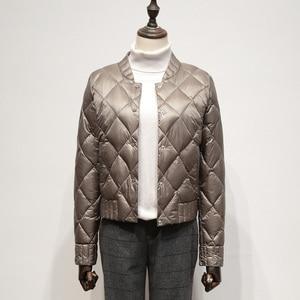 Image 3 - Fitaylor קל במיוחד לבן ברווז למטה מעילי סתיו חורף נשים בתוספת גודל 3XL O צוואר מעיל Slim קצר חם למטה מעילים