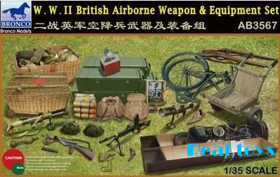 Bronco model AB3567 1 /35 SCALE military models#AB3567 WWII British Airborne Weapon & Equipment Set plastic model kit bronco model cb35054 1 35 wwii civilian 1937 german opel olympia car