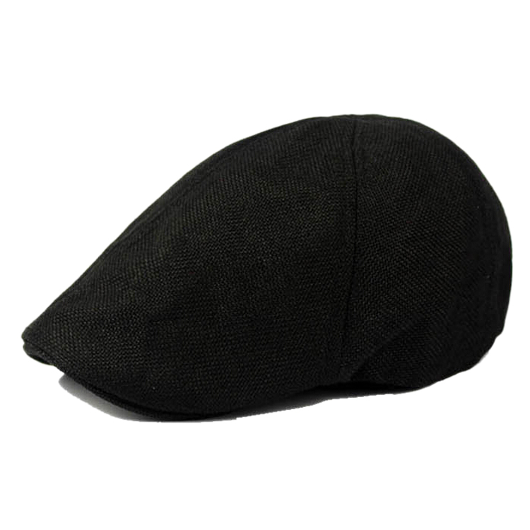 MAKE Hot NEW Solid Fluid Systems Gatsby Cap Ivy Hat Golf Driving Summer Sun Flat Cabbie Newsboy-Black