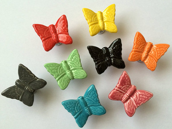 Butterfly Knobs Cabinet Knobs Dresser Door Knob Drawer Knobs Pulls ...