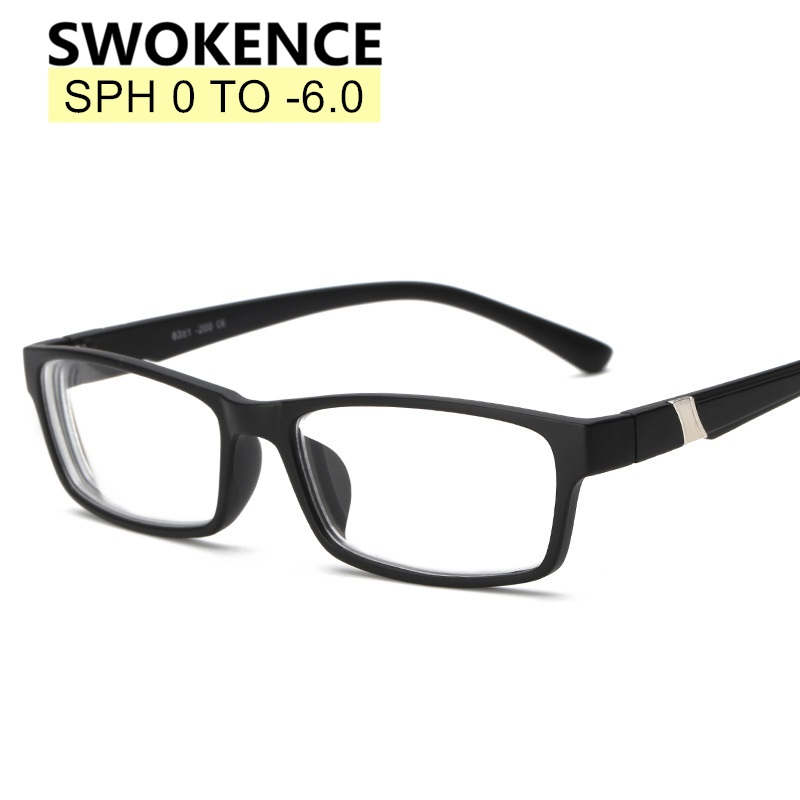 SWOKENCE Diopter -1.0 -1.5 -2 -2.5 -3 -3.5 -4 -4.5 -5 -5.5 -6 Fashion Myopia Glasses Shortsighted Eyeglasses Women Men F170