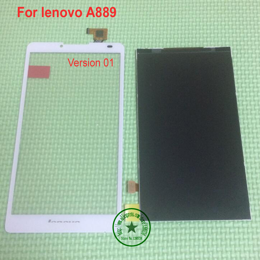 TOP Quality Black White Touch Screen Panel Digitizer + LCD Display For Lenovo A889 Repair External Screen Replacement