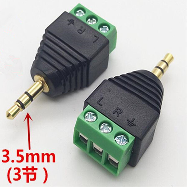 Miraculous 10Pcs Free Wiring 3 5Mm Gold Plated Dual Channel Audio Headphone Wiring Digital Resources Llinedefiancerspsorg