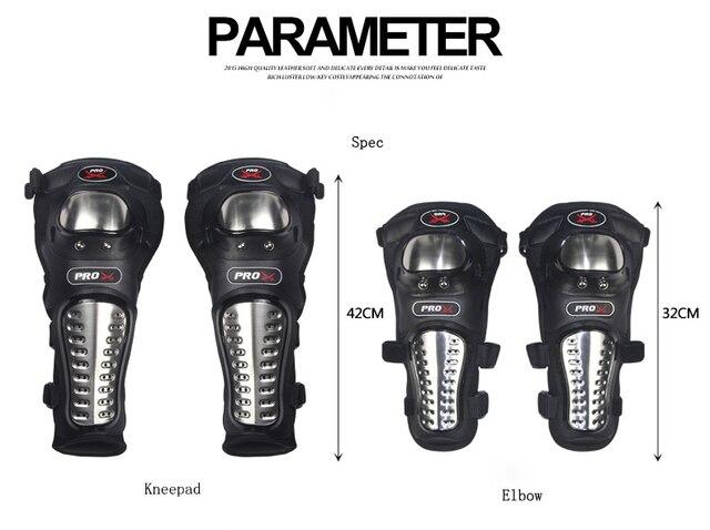 4 Unids/set de Scoyco K12 Motocicleta Protector kneepad Codo Guardia Racing de Acero Inoxidable Rodilleras Motocrós armadura Protectora Codo Rodilla
