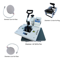 New Design 4 in 1 Heat Press/Heat Transfer Machine,t shirt Printing Machine, Cheap phone Case/ Mug/t shirt Printer,Sublimation