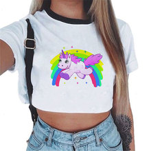 ZZSYKD New Homewear for Women Unicorn Pajama Shorts Crop Top Sexy Lingerie Summer Top Clothes Sleep