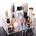 Acrylic Makeup Organizer 13 Grids Cosmetic Storage Box Lipstick Desk Organizador Jewlry Rangement