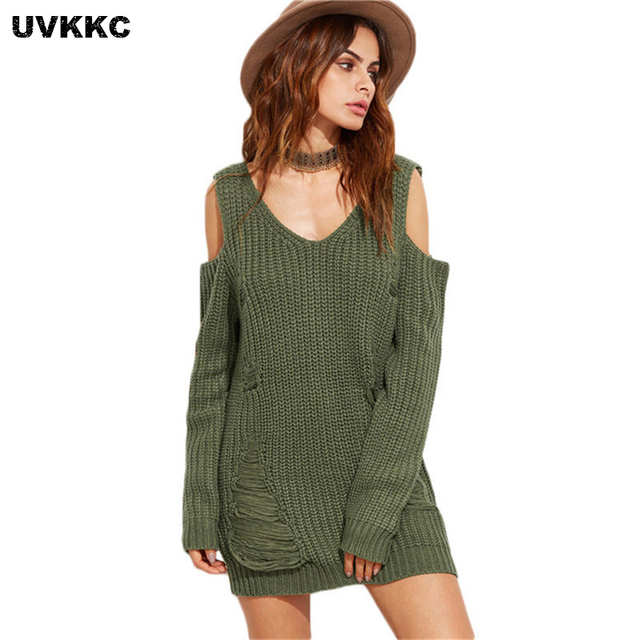 Uvkkc Women Sweater Essential Tops Solid Crew Neck Long Sleeve