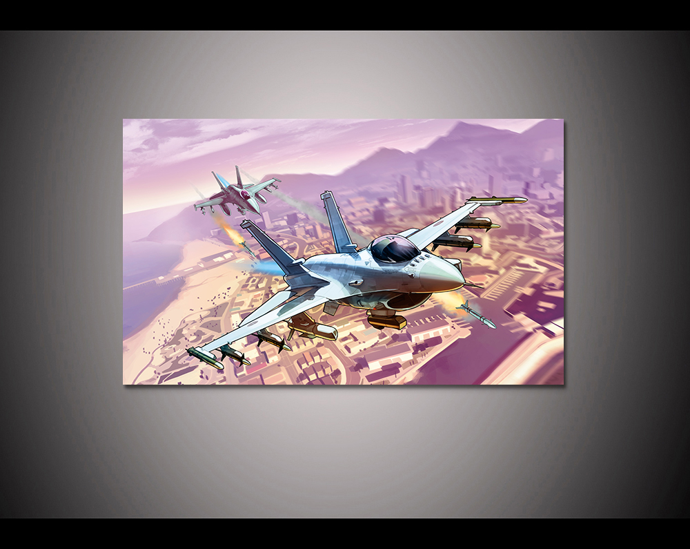Canvas print painting Grand theft auto gta v 5 Game poster Modern Home Decor Wall art Pictures For Living Room No frame F1617