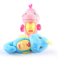 Cute Animal Plush Sleep Doll Music Stuffed Soft Appease Toy for Baby Children LED Night Light Animal Lamp 2019
