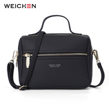 WEICHEN 2019 Новая мода сумка женская на молнии Дизайн Женский сумки через плечо Bolsa Sac дамы маленькая мини коробка