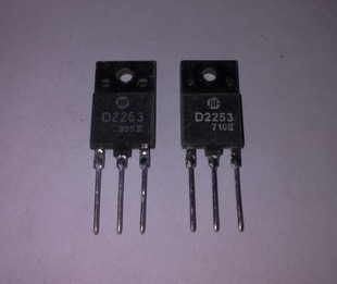 2SD2253 TO-3PF Color TV line output transistor D2253 quality assurance--HXDD2