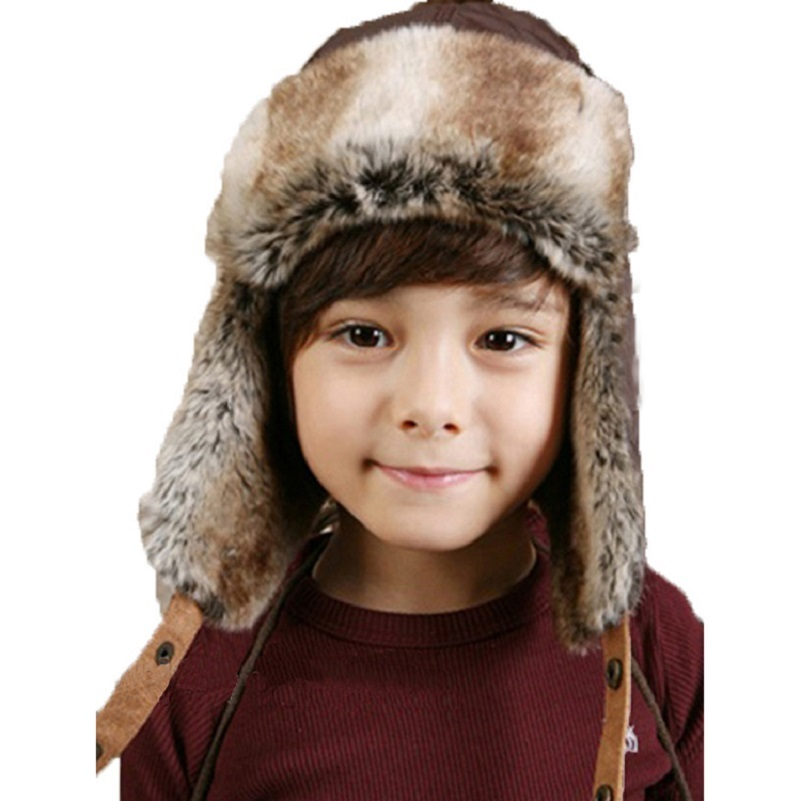 Bnaturalwell Kids Bomber Hats Fashion Winter Ski Fur Trapper Hat With Ear Flap Boys cap Warm caps Child beanie Ear Flap H173 alishebuy new big sale fashion unisex hats women men warm beanie hat ski winter cap hip hop woman letter print thick hat 29