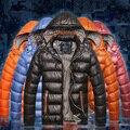 Novos Homens Jaqueta de Algodão Parka Espessamento Quente Casacos Com Capuz Inverno Down Jacket & Brasão À Prova D' Água 22