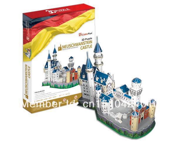 Neuschwanstein Castle CubicFun 3D educational puzzle Paper & EPS Model Papercraft Home Adornment for christmas birthday gift wat phra kaew cubicfun 3d educational puzzle paper