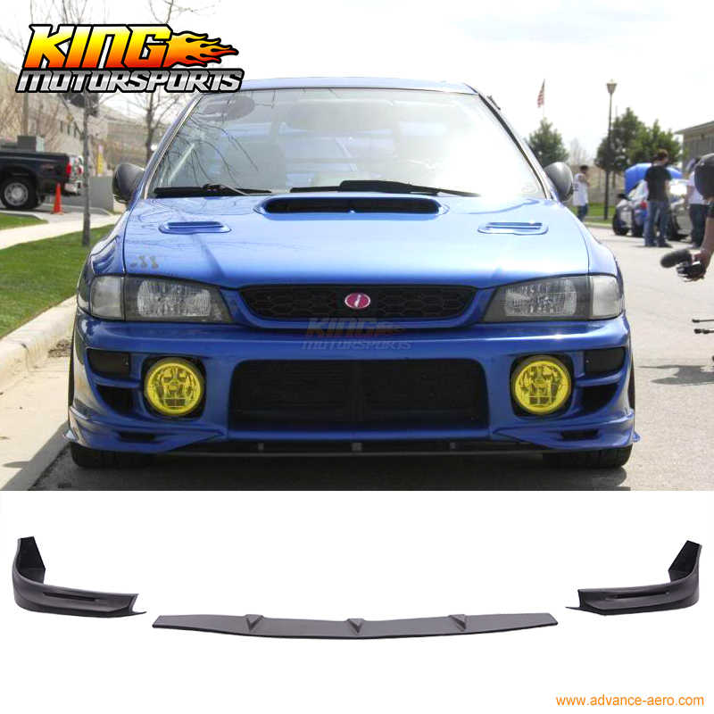 1e46a335fcf Detail Feedback Questions about Fit For 97 01 Subaru Impreza WRX GD Style Front  Bumper Lip Urethane 3 Piece on Aliexpress.com
