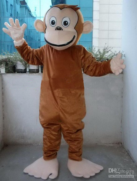 big mouse monkey cartoon mascot costumes Halloween Fancy Dress Adult Size custom made free shipping