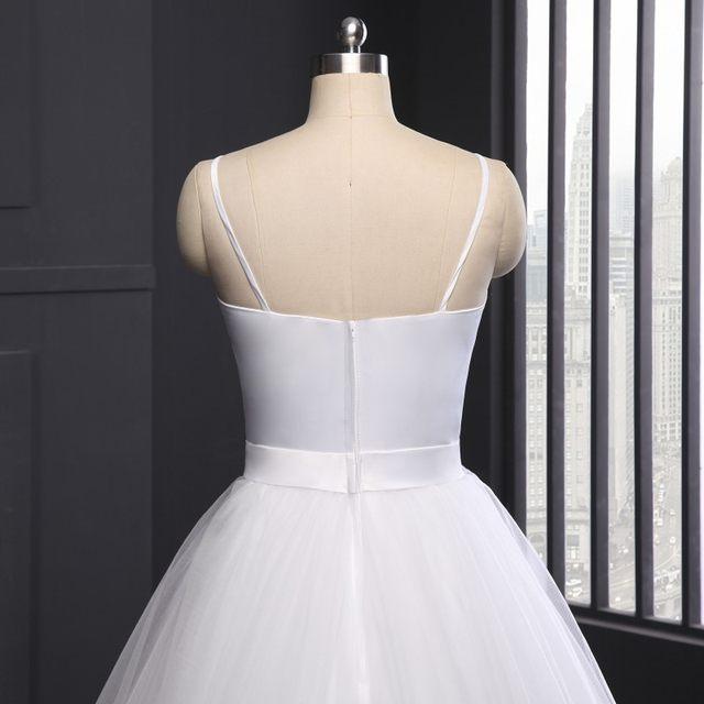 Spaghetti Strap Simple Wedding Dress