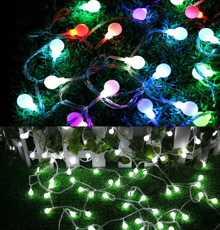 10M 100 LEDs 110V 220V Waterproof IP65 Outdoor Multicolor LED String Lights Christmas Lights Holiday Wedding Party Decotation