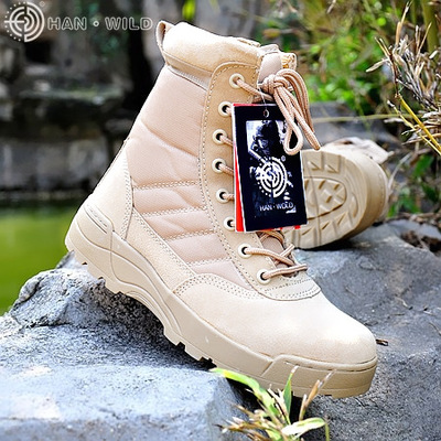 High Quality 2018 New Army Boots Male Zipper Design Tactical Boots Outdoor Delta SWAT Shoes For