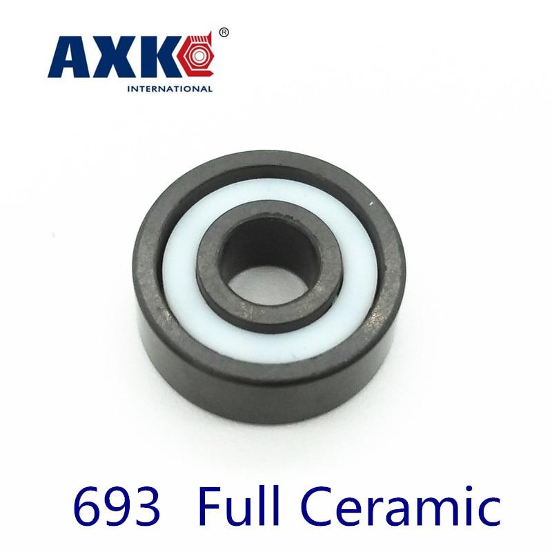 Axk 693 Full Ceramic Si3n4 3x8x3 3mm/8mm/3mm Si3n4 Ceramic Ball BearingAxk 693 Full Ceramic Si3n4 3x8x3 3mm/8mm/3mm Si3n4 Ceramic Ball Bearing