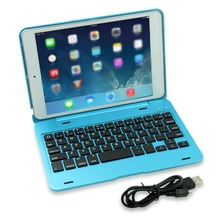 Animuss Case with Keyboard Aluminium Wireless Bluetooth Keyboard Folio Smart Case Stand Cover Shell for Apple iPad Mini 1 2  3 ultra slim shell abs plastic folio wireless bluetooth keyboard carrying stand case cover for apple ipad air 2 ipad 6 9 7inch