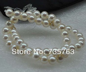 xiuli 000183 Outstanding luster AAA 8-9mm natural white round pearl