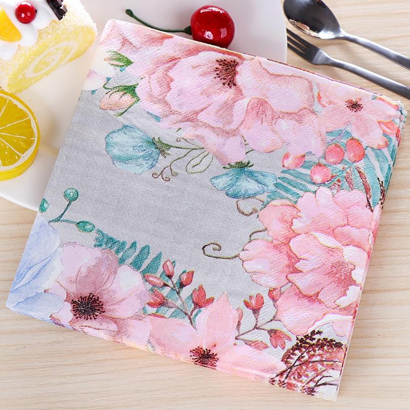 Vintage Big Flowers Design Paper Napkins Cafe & Party Tissue Napkins Decoupage Decoration Paper 33cm*33cm 20pcs/pack/lot 20pcs lot sud50p04 08 50p04 08 to252