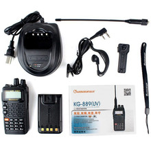 2pcs Black Walkie Talkie WouXun KG-889(UV) VHF+UHF 5W 199 CH VOX DTMF Waterproof Dustproof IP55 FM Radio Two Way Radio