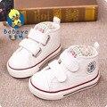 BABAYA diseñador de la marca new classic Otoño estrella suave low top infantil niño niña zapatillas de lona primeros caminante ocasional sólido zapatos