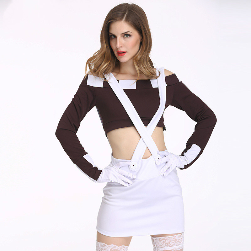 Europe American Style Sexy Costumes Halloween Party Policewoman Cosplay Costumes Adult Women Sexy Halloween Cosplay Clothing