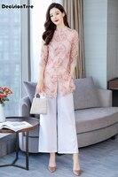 2019 summer woman aodai vietnam traditional clothing ao dai vietnam robes and pants vietnam costumes improved cheongsam