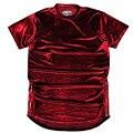 Oi-Rua Mens Hip Hop Rocha T Camisas de Veludo Zíper Lateral Ouro Camisa estendida T Para O homem Com Espinhel Curver Hem Tee de Manga Curta LQ057