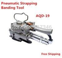 Pneumática PP/PET Strapping Banding Ferramenta AQD-19 13-19mm firction da caixa da máquina de embalagem