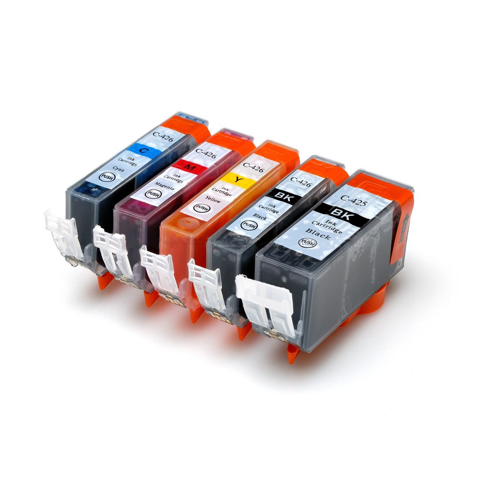 Genie Full ink 5PCS ink Cartridge PGI-425 CLI-426 for Canon Pixma MG5240 IP4840 IX6540 IP4940 MG5340 MX894 MX884 MX714 IX6540 1set pgi 425 cli 426 ink cartridge for canon pgi 425 cli426 pixma mg5240 mg5140 mg5340 ip4840 mx884 ix6540 ip4940 mg5340 mx714