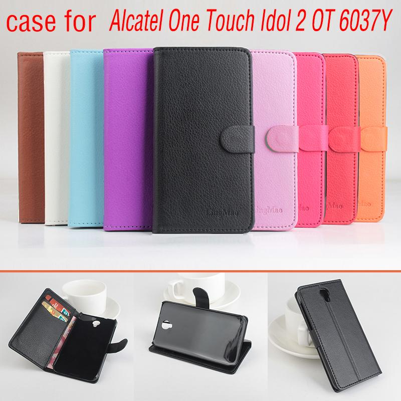 Phone bags case for Alcatel One Touch Idol 2 OT 6037YAbout Flip Cover Mobile Phone Bags.Lingmao Brand Hot Sale Factory price.
