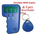 Handheld 125KHz RFID ID EM4100 Card Reader & Writer Duplicator Copier Programmer Device + 5 Free EM4305 T5577 Rewritable Tag