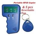 Handheld 125KHz RFID ID EM4100 Card Reader & Writer Duplicator Copier Programmer Device + 5 Free EM4305 T5577 Rewritable Tag